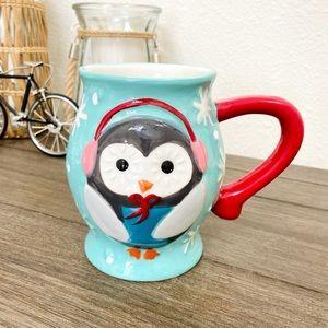 Earthenware Owl Winter Mug